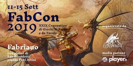 Fabcon 2019 - 29ma convention di giochi di ruolo e da tavolo biglietti