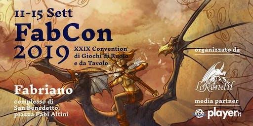 Fabcon 2019 - 29ma convention di giochi di ruolo e da tavolo