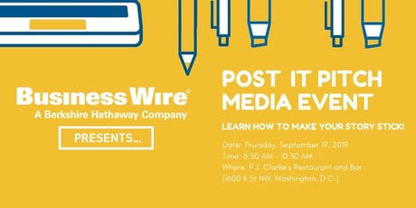 Post It Pitch - Media Pitching Event tickets