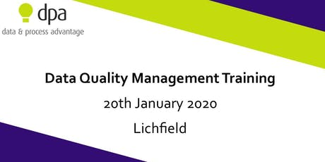 Data Quality Management Training tickets