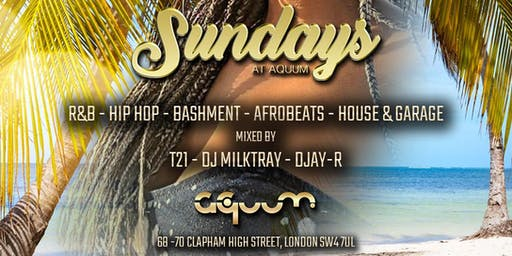 SUNDAYS AT AQUUM FREE TICKETS