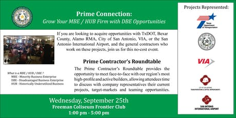 Prime Connection: Grow Your MBE / HUB Firm with DBE Opportunities tickets