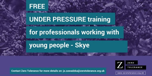 Under Pressure Training for Youth Workers - Skye
