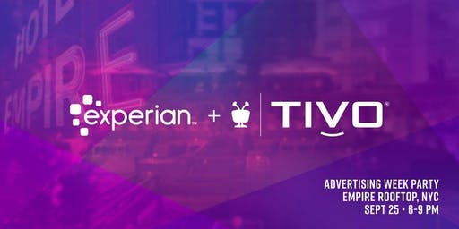 Join TiVo + Experian at Advertising Week for a Rooftop Happy Hour