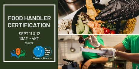 Food Handler Certification (Registration List)  Sept 11 & 12 tickets