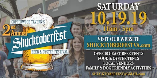 2nd Annual Shucktoberfest Beer & Oyster Festival