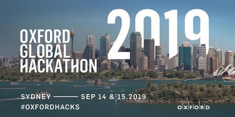 Oxford Global Hackathon 2019 - Sydney tickets