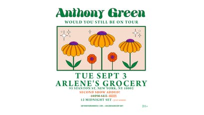 An Evening With Anthony Green [SECOND SHOW ADDED - 12 MIDNIGHT SET] tickets