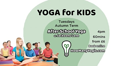 Yoga for Kids - After School Classes tickets
