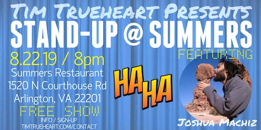 Stand-up at Summers Comedy Showcase Feat. Joshua Machiz