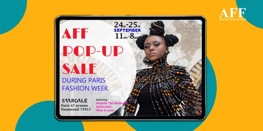 African Fashion Fund Presents: AFF Paris Pop-UP Shop & Cocktail
