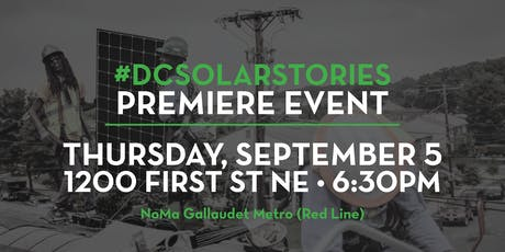 #DCSOLARSTORIES Documentary Premiere + Panel Conversation tickets