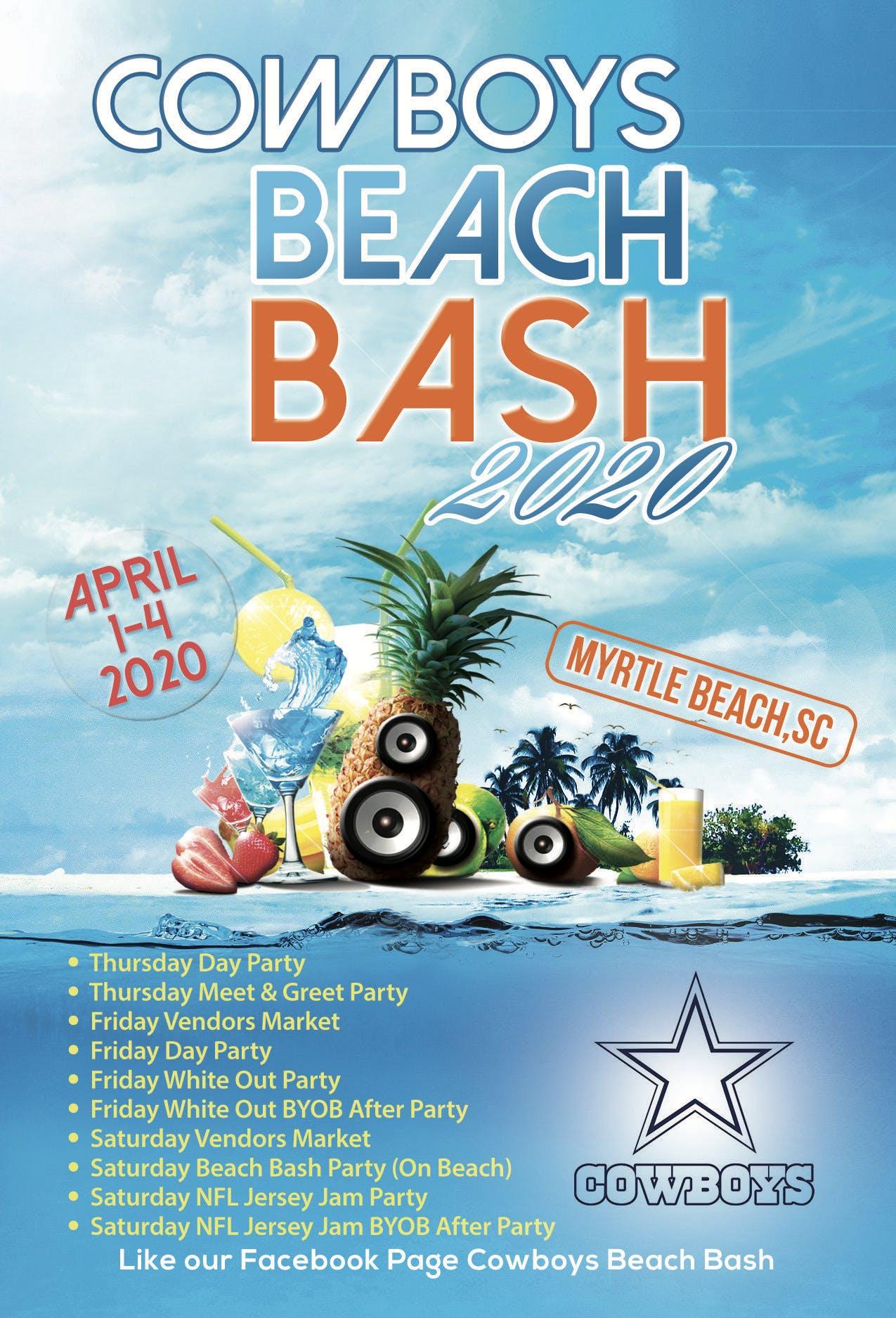 Myrtle Beach Events April 2020.Cowboys Beach Bash At Sands Ocean Club Resort Myrtle Beach