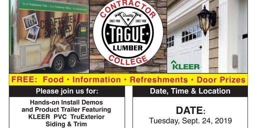 Tague Lumber Contractor College in Doylestown — KLEER PVC Trim & Siding