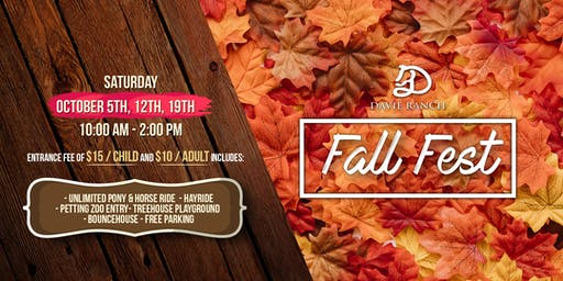 Fall Fest October 12th at Davie Ranch