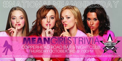 National Mean Girls Day Trivia Celebrated at Copperhead Road Bar & Nightclub