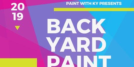 Backyard Paint Class tickets
