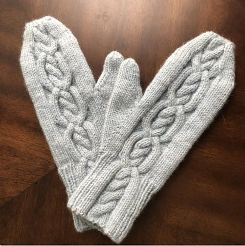Cabled Hug Mittens - December 2019