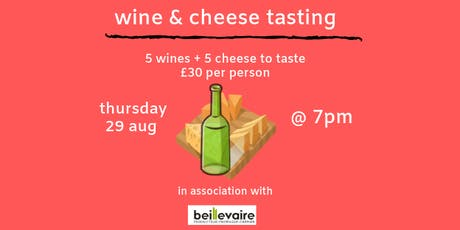 Wine and Cheese Tasting tickets