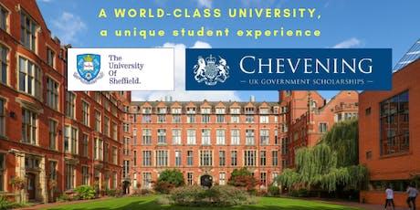 La Universidad de Sheffield y la Beca Chevening - sesión informativa, también en línea tickets