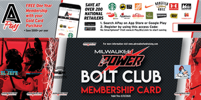 Milwaukee Power Bolt Club 2019-2020