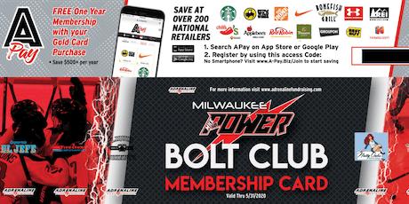 Milwaukee Power Bolt Club 2019-2020 tickets