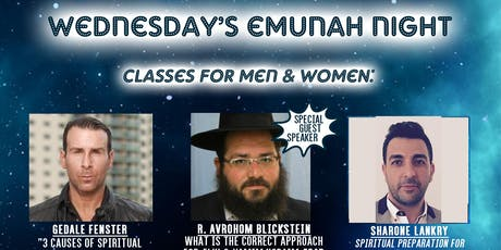 Emunah Night at LHP Wed Aug 21 for Men & Women tickets