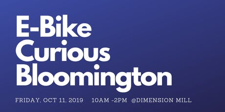 E- Bike Curious Bloomington @ Food Truck Friday tickets