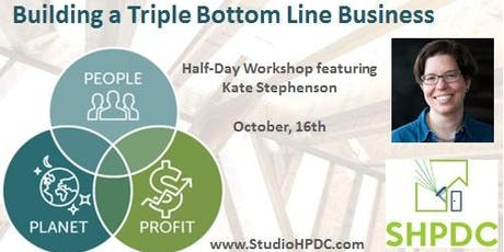 Building a Triple Bottom Line Business tickets