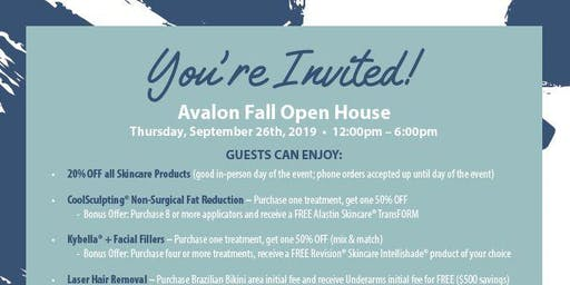 Avalon Fall Open House at AYA™ Medical Spa