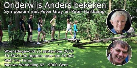 Onderwijs Anders Bekeken: Symposium met Peter Gray en Peter Hartkamp tickets