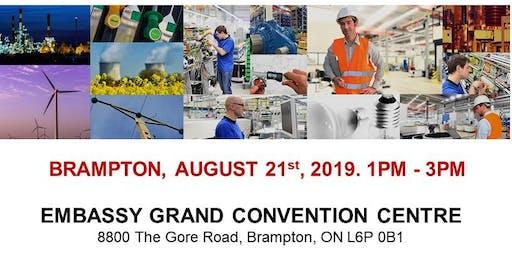 Brampton Blue Collar Job Fair – August 21st, 2019