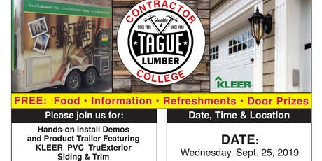 Tague Design Showroom/Malvern Contractor College — KLEER PVC Trim & Siding tickets