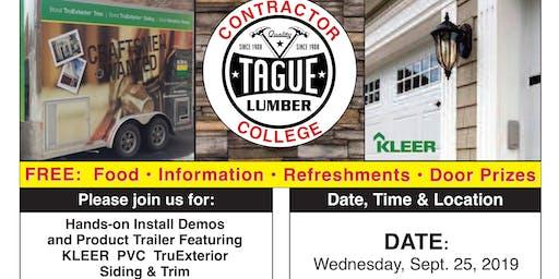 Tague Design Showroom/Malvern Contractor College — KLEER PVC Trim & Siding
