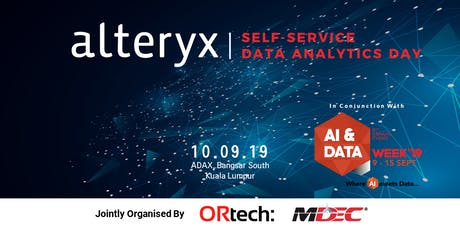 Alteryx Self-Service Data Analytics Day tickets