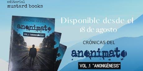 Conversatorio: Libro Crónicas del anonimato: Anonigénesis tickets