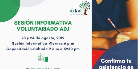 Sesión Informativa Voluntariado ADJ tickets