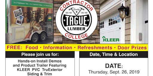 Tague Lumber Contractor College in Kennett Square — KLEER PVC Trim & Siding