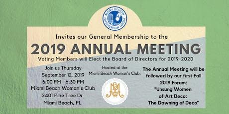 MDPL Annual Membership Meeting tickets