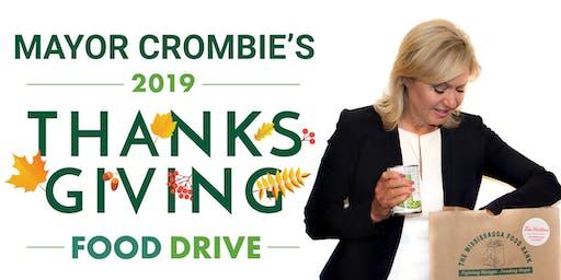 Mayor Crombie's Thanksgiving Food Drive Launch - Flag Raising