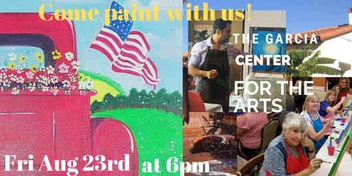 Spirit's and Art Painting with Jesse  at the Garcia Center for the Arts!