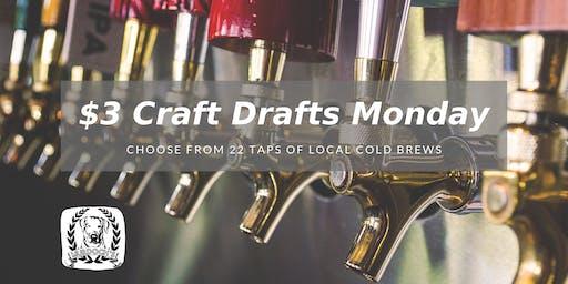 $3 Craft Drafts Monday @ Murdoch's Backyard Pub
