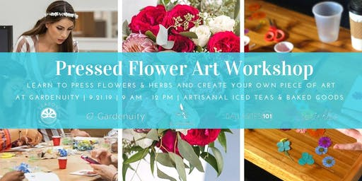 Pressed Flower Workshop! Cohosted by Dallasites101