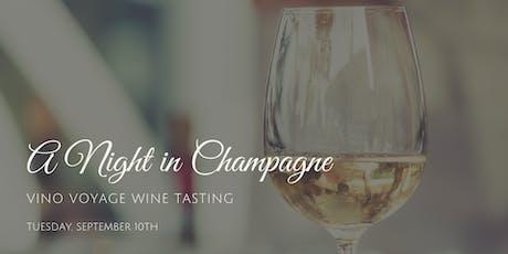 Vino Voyage Wine Tasting: A Night in Champagne tickets