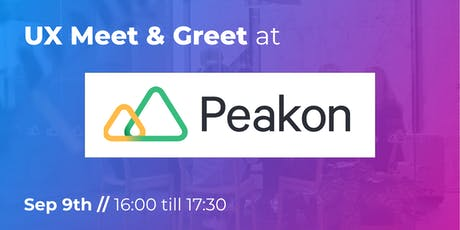 UX Meet & Greet at Peakon tickets