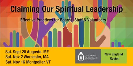 Claiming Our Spiritual Leadership - Nov. 16, Montpelier, VT tickets