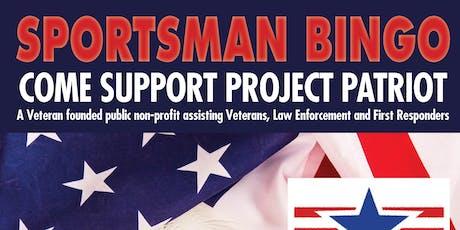 Project Patriot Sportsman Bingo tickets