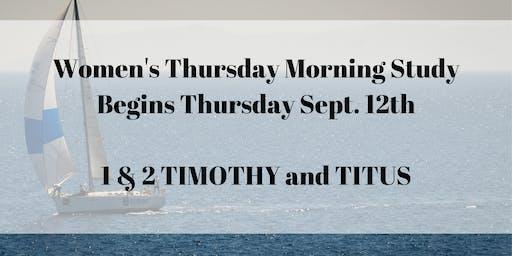 Women's Thursday Morning Bible Study
