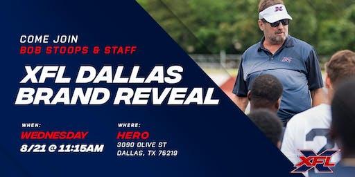 XFL Dallas Brand Reveal