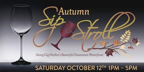 Gig Harbor's Autumn Sip & Stroll tickets